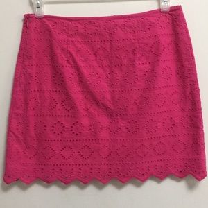 Vineyard Vines Pink Eyelet/Scalloped skirt(8)